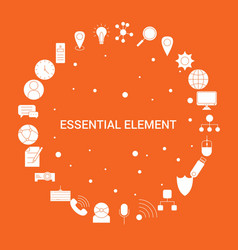 essential element icon set infographic template vector image