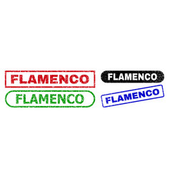 Flamenco rectangle stamp seals with unclean vector