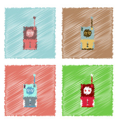 flat icon design collection space remote control vector image