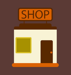 Flat icon shop vector