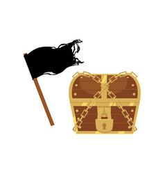 flat pirates symbols icon set isolated vector image