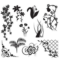 floral design elements - set vector image