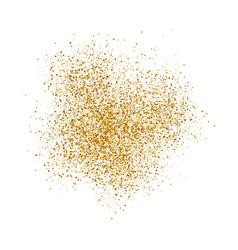 gold sparkles on white background vector image