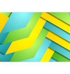 Graphic background of bright abstract stripes vector