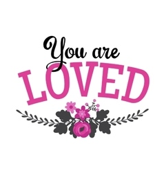 Greeting Card with lettering vector image