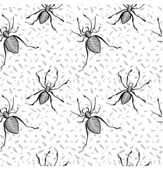 halloween seamless pattern with spider white vector image