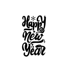 Happy new year 2017 hand-lettering text Handmade vector image