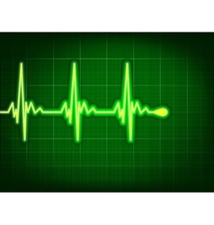 Heart cardiogram on it deep green eps 8 vector