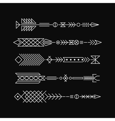Hipster arrows Abstract elements for tattoo and vector image