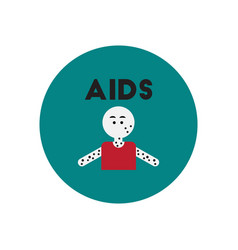 Icon on circle various symptoms of aids vector
