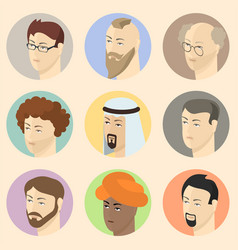 Isometric people heads vector