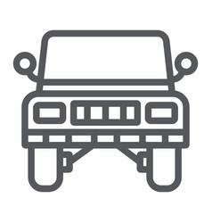jeep line icon transportation and auto suv sign vector image