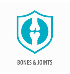 Joint icon knee bones logo template vector