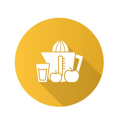 juicer flat design long shadow glyph icon vector image