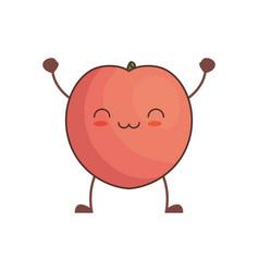 kawaii pomegranate fruit image vector image