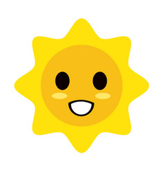 kawaii style icon image vector image