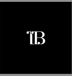L b letter logo abstract design on black color vector