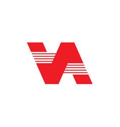 Letter va simple geometric logo vector