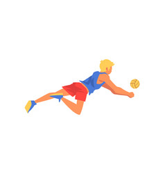 Male volleyball player professional sportsman vector