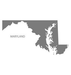 Maryland usa map grey vector