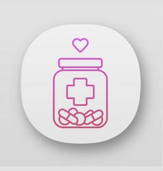Medical aid app icon nursing service vector