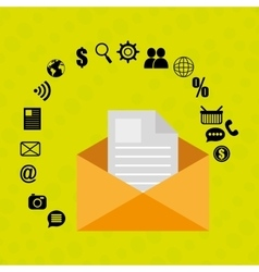 Message envelope letter web vector