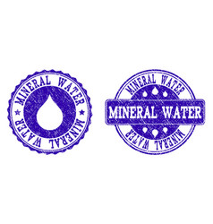 mineral water grunge stamp seals vector image