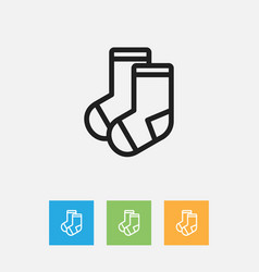 Of relatives symbol on socks vector