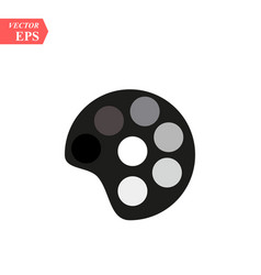 painting palette flat icon on white background vector image