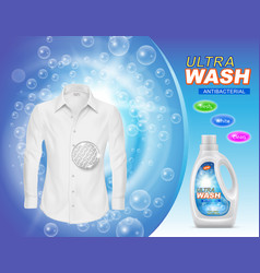 Promotion banner of liquid detergent vector