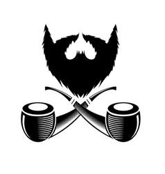 retro wooden smoking pipe icon vector image