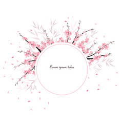sakura branch decoration vector image vector image