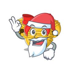 Santa jingle bell on character table vector