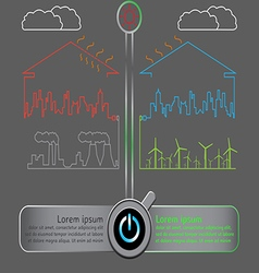 Save the world with wind energy concept vector