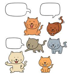 Set of cat vector