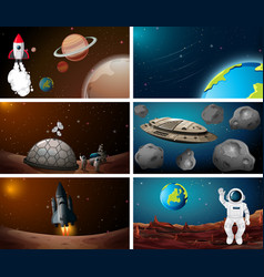 set space scene vector image