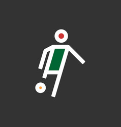 Soccer player flat footballer vector