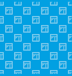 Square window frame pattern seamless blue vector
