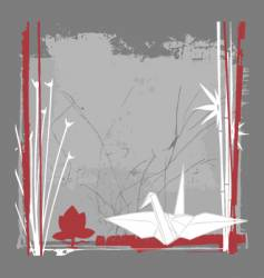 Still life with crane vector