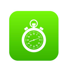 stopwatch icon green vector image