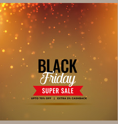 stylish black friday sale sparkles background vector image