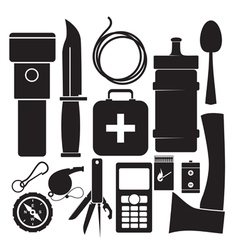 survival kit vector image