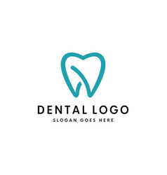 tooth dental logo template vector image