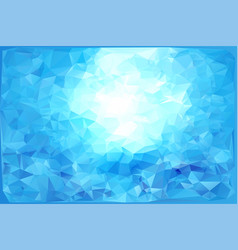 Triangular winter blue ice frost background vector