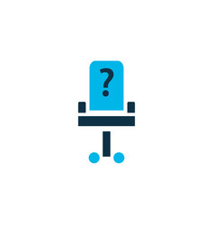 vacancy icon colored symbol premium quality vector image