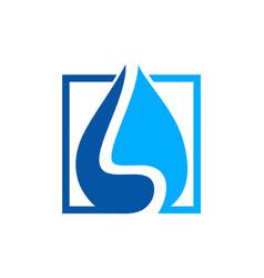 water drop waterproofing logo vector image