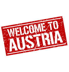 Welcome to austria stamp vector