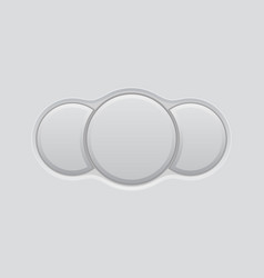 white blank triple button vector image