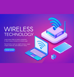 Wirless internet technology vector