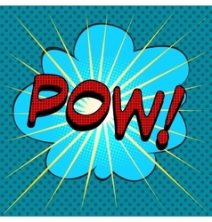 Word pow comic book style vector